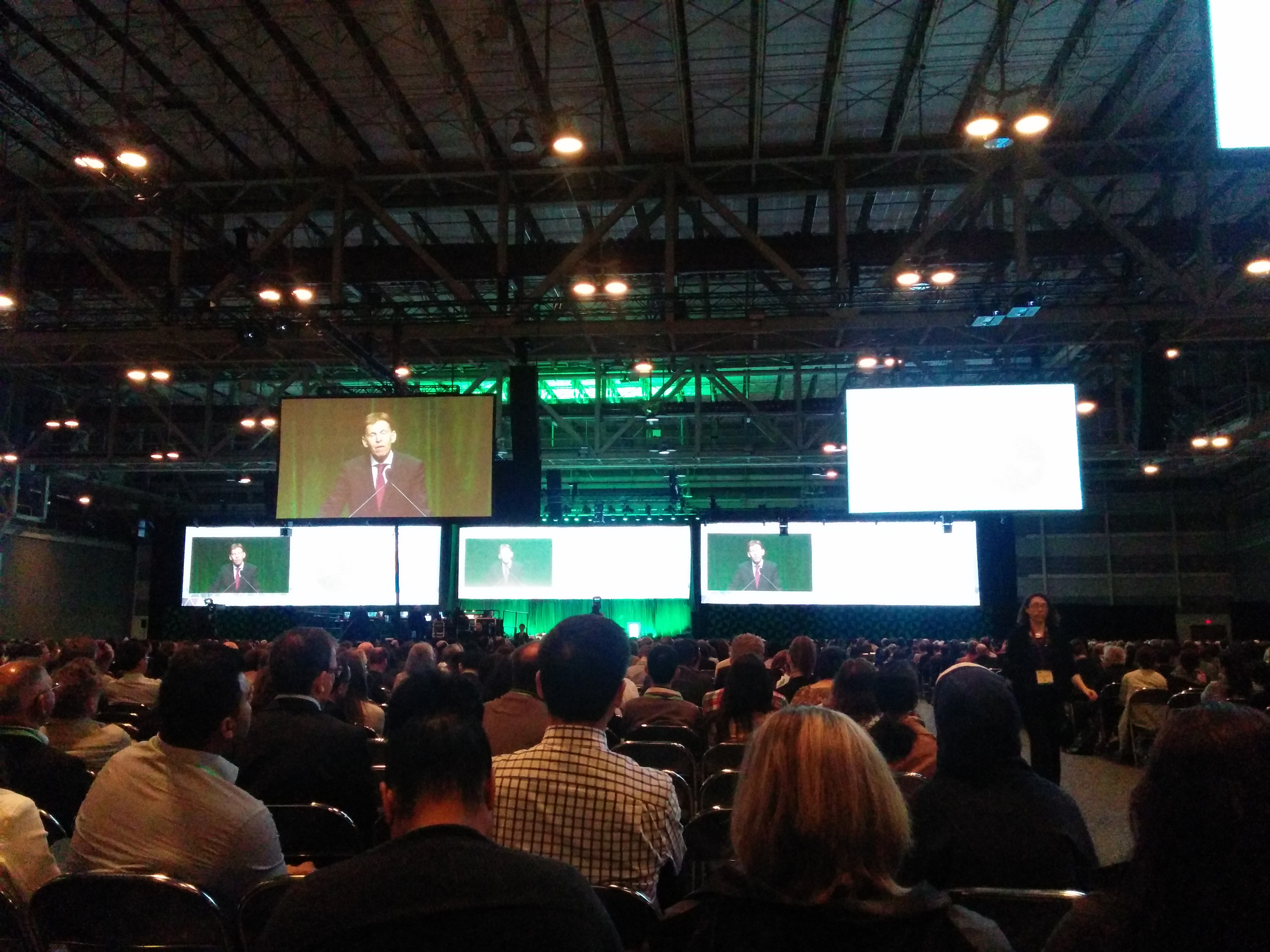 The plenary hall at AACR