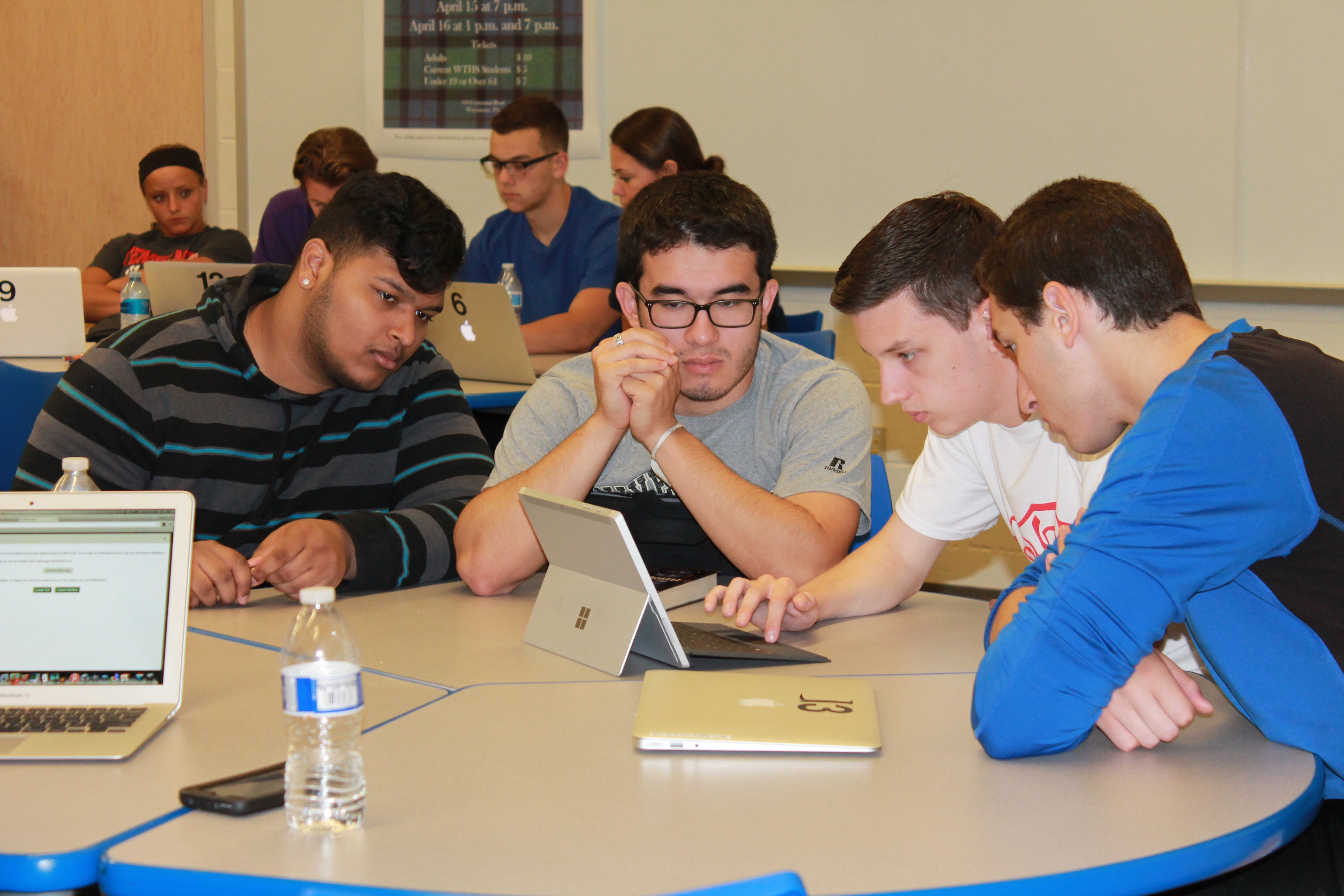 Students working on the Cancer Genomics Cloud in the high school genomics class